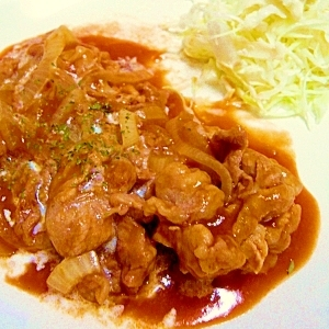 レンジで調理♡豚肉のデミグラスソース