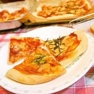パスタソースdeお店に負けない本格絶品ピザ!