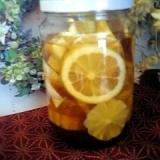 レモネード用にレモンのハチミツ漬け♪