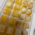 バナナの果肉入りのヨーグルトアイス☆