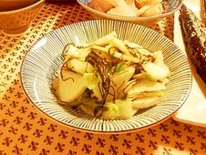 白菜、大根、刻み昆布の漬物