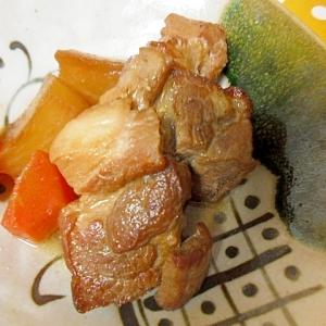 酢入りさっぱり 豚角煮と大根の煮物 圧力鍋使用