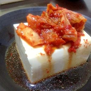 Korean☆あっさりキムチ豆腐