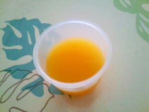 オレンジジュースゼリー++