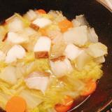 鱈と白菜と人参の鍋