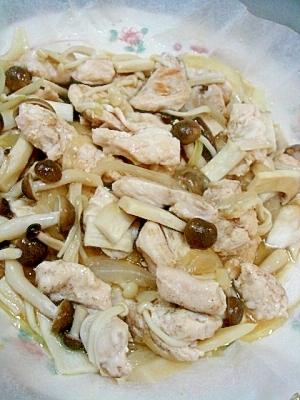 ヘルシー★鶏ササミのバター醤油蒸し焼き