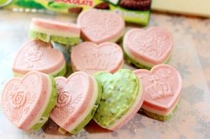 バレンタインに♪可愛い3層チョコレート