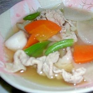 冷凍和風野菜ミックスで和風スープ
