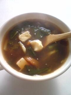 キムチ鍋の素で作るクリームチーズ入りの野菜スープ