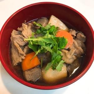 野菜たっぷり☆根菜と牛肉のたまり醤油煮