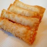 おつまみに チーズとかにかまの揚げ餃子