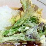 米粉を使って*たらの芽の天ぷら