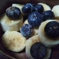 美的 バナナとブルーベリーとクッキーのヨーグルト