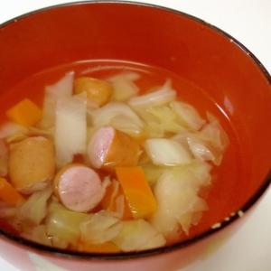 ウインナー入り中華スープ