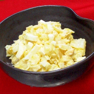 白だし使いで和風✿キャベツと卵のサラダ