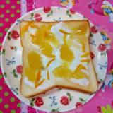 デザート気分のトースト