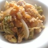 白菜と大根の卵とじ