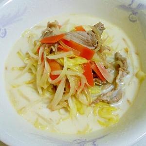 お野菜たっぷり☆チャンポン風ミルクラーメン
