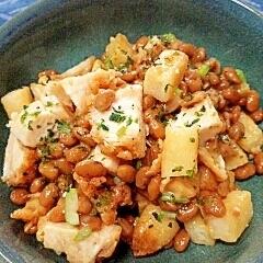納豆の食べ方-フライドチキン♪