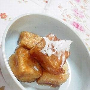 高野豆腐のカリカリ甘辛煮