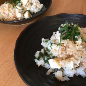 豆腐と辛子明太子の和風チャーハン