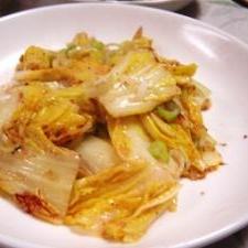 簡単、白菜のネギたれ焼き