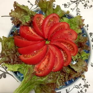 レタスとトマトの 大葉塩 サラダ ♪