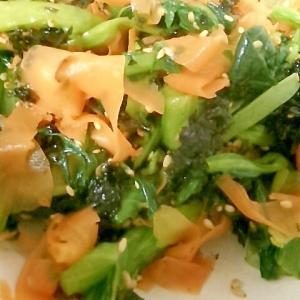 韓国海苔と小松菜とにんじんのナムル