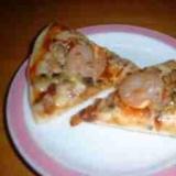 アサリとエビのピザ