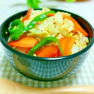 野菜炒め丼⭐万能タレで簡単に♪