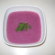 紫カリフラワーの美肌ポタージュ