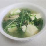 身体あったまる水菜と豆腐の健康スープ