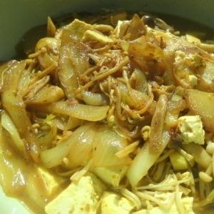きのこと豆腐のカレー煮