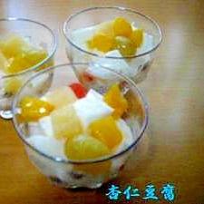 ぷるぷる、とろりん♪「杏仁豆腐」