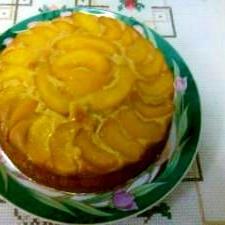 簡単☆桃ケーキ