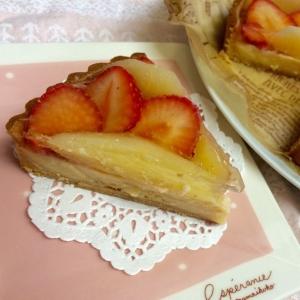 【糖質制限】いちごとりんごタルト 小麦不使用