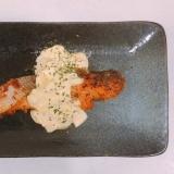 鮭のパン粉焼きタルタルソースがけ