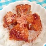 ソースコロッケの丼★