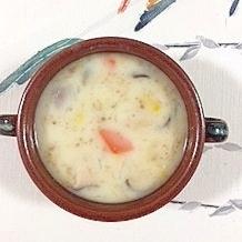 圧力鍋で、牛角切り、エリンギのクリームシチュー