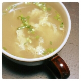 花椒が香る♪ねぎ&卵 no 中華スープ
