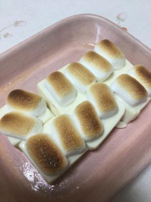 塩豆腐のマシュマロ焼き