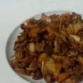 中華鍋で作る、ケチャップ味の野菜炒め