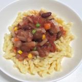 超簡単♪有機トマト缶で冷製パスタ