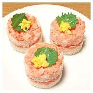 お菓子用のセルクルで、華やか寿司!