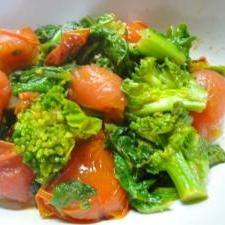 菜の花とミニトマトのイタリア風ソテー