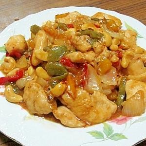 鶏肉・カシューナッツ・野菜の中華炒め(我が家の味)