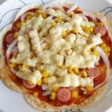 餃子の皮で簡単ホールピザ