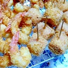 魚肉ソーセージフライ(&エビフライ)