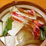 おダシが美味★海鮮豆腐鍋
