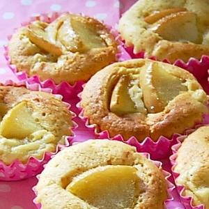 簡単美味しいリンゴたっぷりのカップケーキ